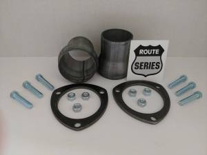 BlackTie Exhaust and Stainless Steel Tips - Route Series Header Buddy Collector Set