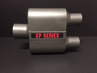 "XtremePower Chamber Highway and Street Performance - XP100 Series- 4"" X 9"" X 6.50"" BODY 2.50""ID INLET 2.25""ID DUAL OUT 13""OAL  #XP425"