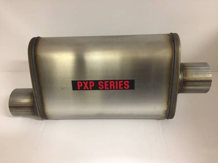 "ProlineXtreme Performance Highway and Off Road - PXP1400 Series-2.50""id in 2.50""id out offset/center 4""X9"" oval 14"" body 20"" overall universal muffler #PXP1226"