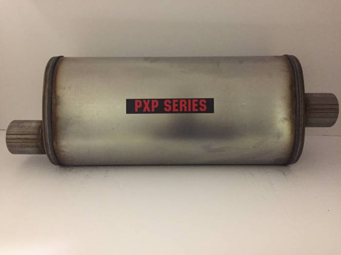 """ProlineXtreme Performance Highway and Off Road - PXP1800 Series-2.25""""id in 2.25""""id out offset center 5""""X8"""" oval 18"""" body 24"""" overall universal muffler #PXP2255"""