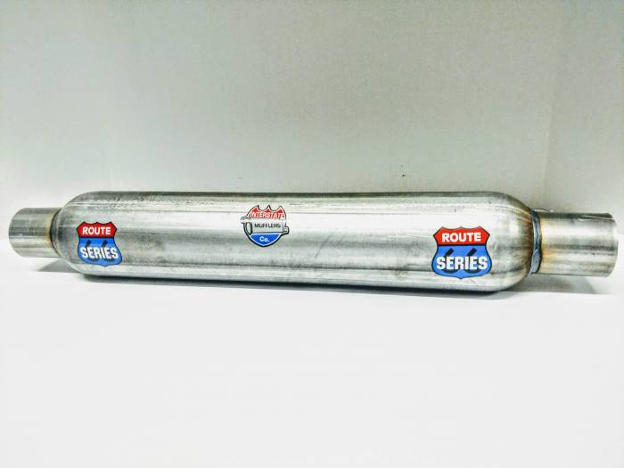 """Route Series Glass Packs-2.50""""id in 2.50""""id out 3.50"""" round 18"""" body 23"""" overall #RS3518S-8"""