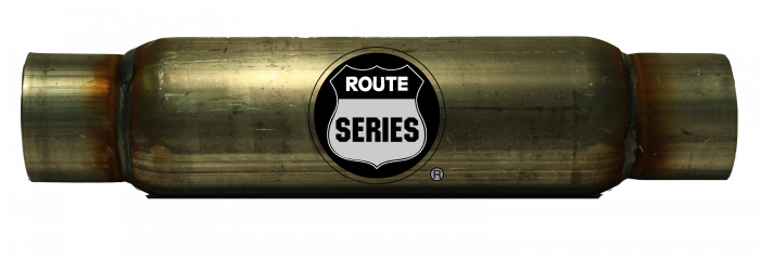 """Route Series Glass Packs-3""""id in 3""""id out 4"""" round 12"""" body 17"""" overall #RS-4312S"""