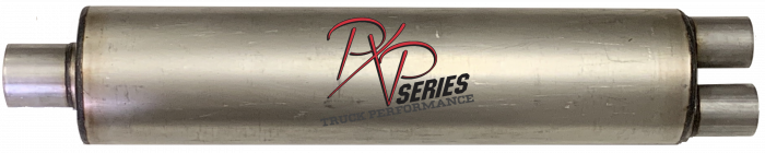 "PXP Series Truck Performance - PXP truck series-7"" Round, 30"" Body, 37"" OAL 3""ID Center Inlet, 2.5""ID Dual Outlet #PXPT4027"