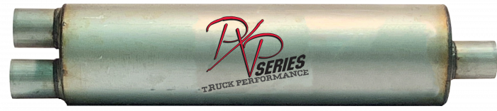 "PXP Series Truck Performance - PXP truck series-7""Round, 26""Body, 33""OAL, 2.5""ID Dual Inlet/ 2.5""ID Offset Outlet #PXPT4122"