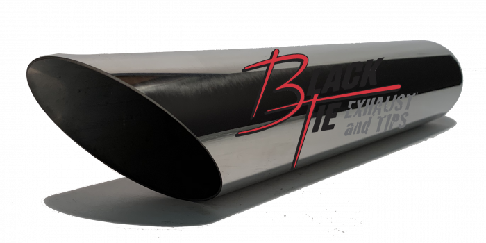 """BlackTie Exhaust and Stainless Steel Tips - BlackTie Tip 3""""round X 2.25""""id inlet 16""""OAL angle cut BT316ACSS"""