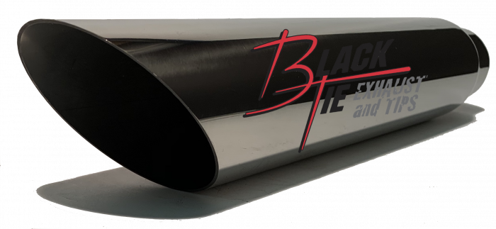 "BlackTie Exhaust and Stainless Steel Tips - BlackTie Tip 3""round X 2.25""id, 18"" long angle cut BT4616AC"