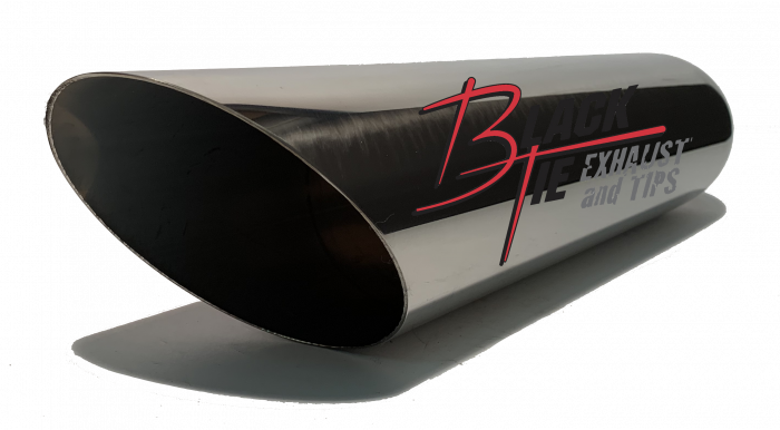 "BlackTie Exhaust and Stainless Steel Tips - BlackTie Tip 4""rd X 2.50""id 18""long angle cut BT418ACSS"