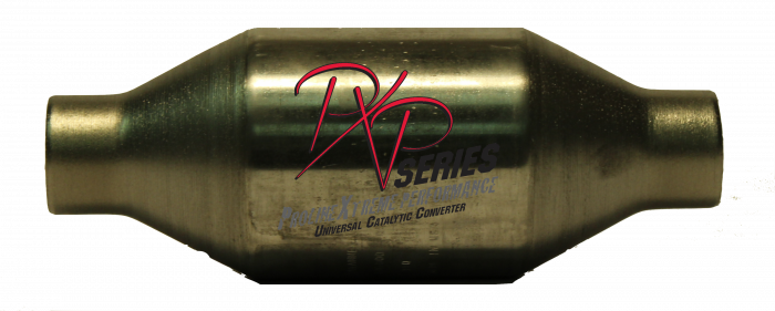 """PXP Series Universal Catalytic Converters - Catalytic Converter High Flow 1.75""""id X 4""""round X 11 """"long 410175"""