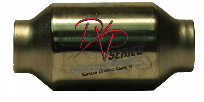 """PXP Series Universal Catalytic Converters - Catalytic Converter  2.25""""id inlet/outlet X 4""""round X 8""""long 410225S"""