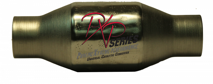 """PXP Series Universal Catalytic Converters - Catalytic Converter 2.50""""id inlet/outlet X 4""""round X 11""""long 410250"""