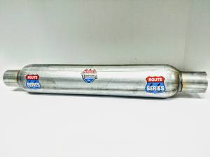 """Route Series - Route Series Glass Packs - Route Series Glass Packs-2.50""""id in 2.50""""id out 3.50"""" round 18"""" body 23"""" overall #RS-3518S-8"""