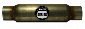 "Route Series - Route Series Glass Packs - Route Series Glass Packs-3""id in 3""id out 4"" round 12"" body 17"" overall #RS-4312S"