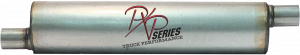 "Mufflers - ProlineXtreme Truck Performance - PXP Series Truck Performance - PXP truck series-6"" Round, 26"" Body, 33"" OAL 2.25""ID Offset/Center #PXPT1012"