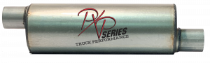 "Mufflers - ProlineXtreme Truck Performance - PXP Series Truck Performance - PXP truck series-7""Round, 20"" Body, 27""OAL 3""ID Offset/Offset #PXPT3020"