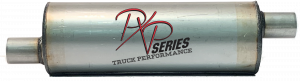 "Mufflers - ProlineXtreme Truck Performance - PXP Series Truck Performance - PXP truck series- 6""round, 17"" body, 23""OAL 2""ID Offset/Center #PXPT1010"
