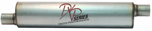 "Mufflers - ProlineXtreme Truck Performance - PXP Series Truck Performance - PXP truck series-6"" Round, 26"" Body, 33"" OAL 2.5""ID Offset/Offset #PXPT4010"