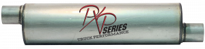 "Mufflers - ProlineXtreme Truck Performance - PXP Series Truck Performance - PXP truck series-7"" Round, 26""Body, 33""OAL 3""ID Offset/Offset #PXPT4115"