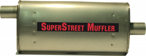 "Super Street Mufflers Professional installer - SuperStreet Muffler 1.75""id offset/center 3X7X16""body 21""OAL Part#:IM403"