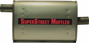 "Super Street Mufflers Professional installer - SuperStreet Muffler 1.75""id offset/center 4X9X15""body 21""OAL Part#:IM458"