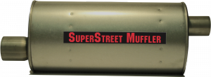 "Super Street Mufflers Professional installer - SuperStreet Muffler 3""id offset 2.75""id center 7X9X19.50""body 26.50""OAL Part#:IM818"