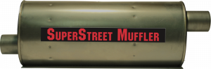 "Super Street Mufflers Professional installer - SuperStreet Muffler 2.75""id offset/center 7X9X22.50""body 29.50""OAL Part#:IM790"